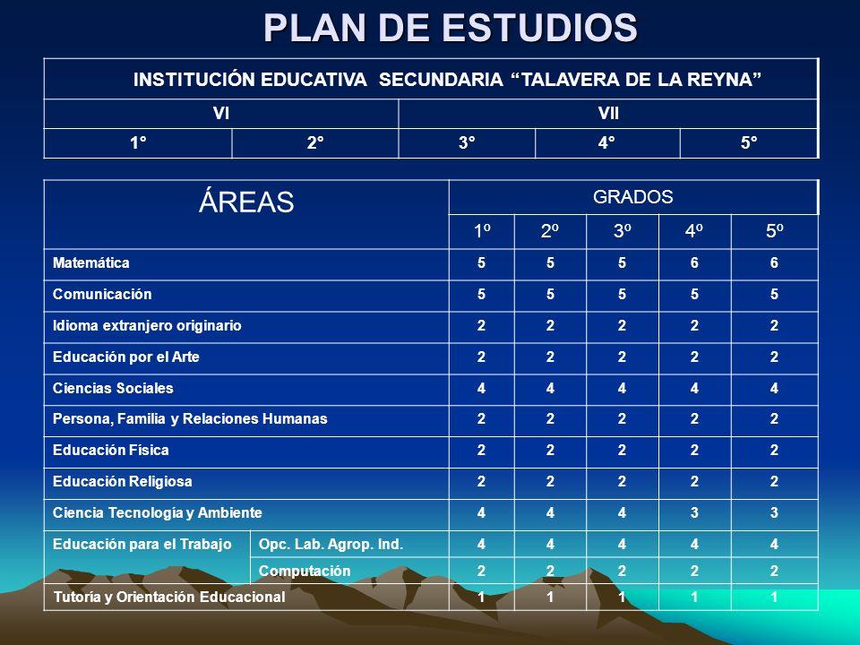 INSTITUCIÓN EDUCATIVA SECUNDARIA TALAVERA DE LA REYNA