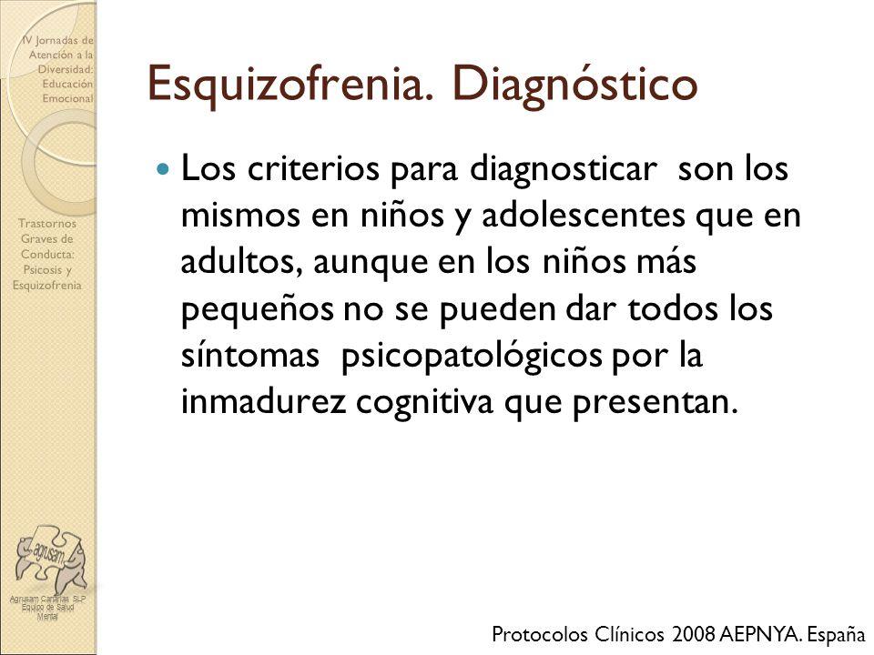 Esquizofrenia. Diagnóstico