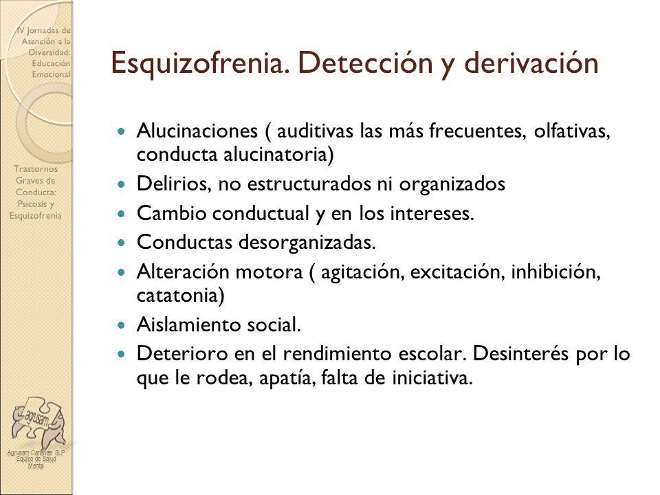 Esquizofrenia. Detección y derivación