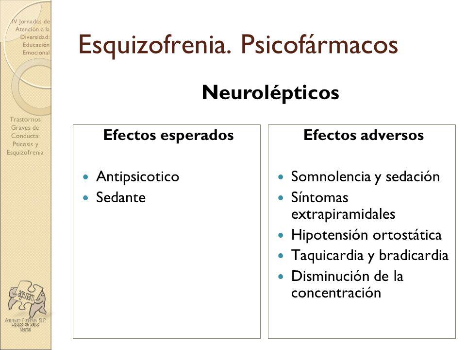 Esquizofrenia. Psicofármacos