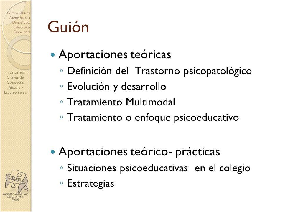 Guión Aportaciones teóricas Aportaciones teórico- prácticas