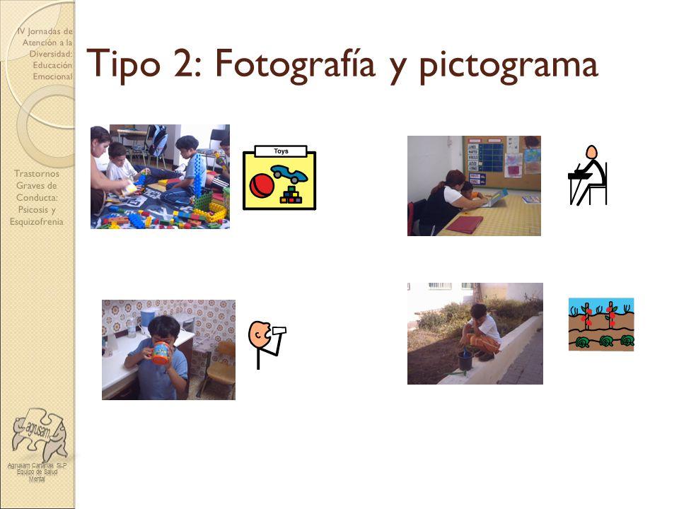 Tipo 2: Fotografía y pictograma