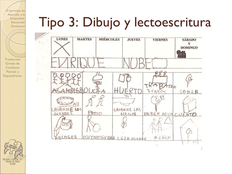 Tipo 3: Dibujo y lectoescritura