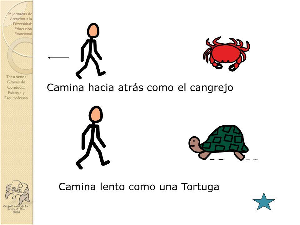 Camina hacia atrás como el cangrejo