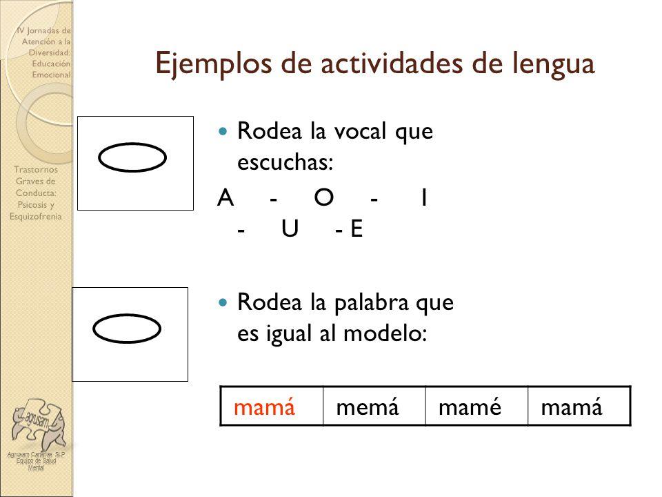 Ejemplos de actividades de lengua