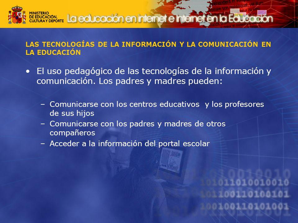LAS TECNOLOGÍAS DE LA INFORMACIÓN Y LA COMUNICACIÓN EN LA EDUCACIÓN