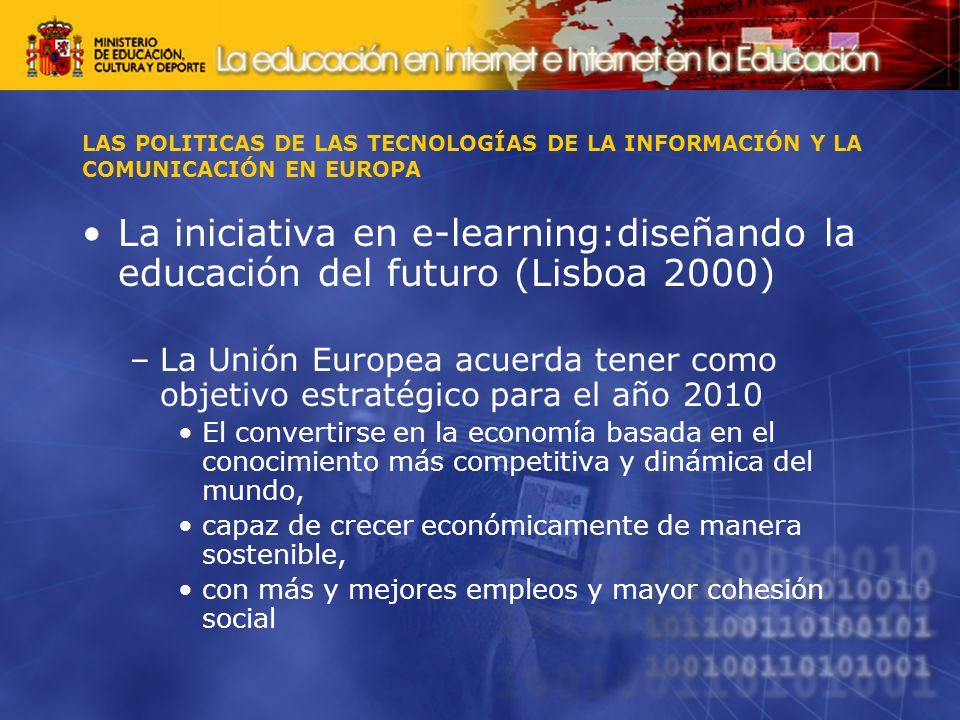 LAS POLITICAS DE LAS TECNOLOGÍAS DE LA INFORMACIÓN Y LA COMUNICACIÓN EN EUROPA