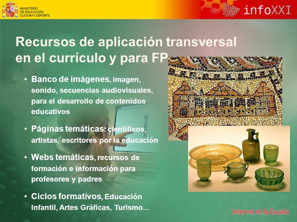 Recursos de aplicación transversal en el currículo y para FP