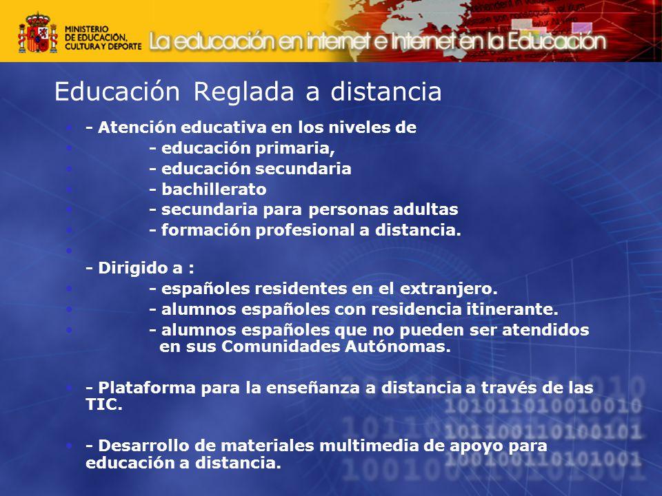 Educación Reglada a distancia