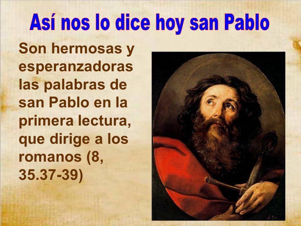 Así nos lo dice hoy san Pablo