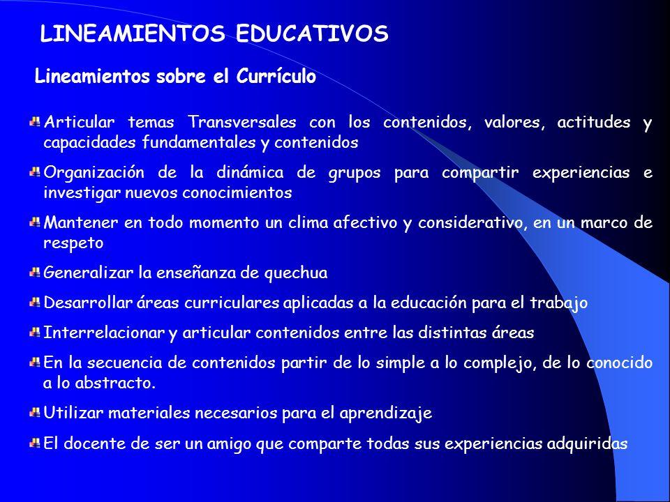 LINEAMIENTOS EDUCATIVOS