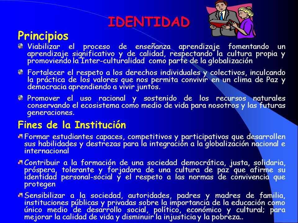 IDENTIDAD Principios Fines de la Institución