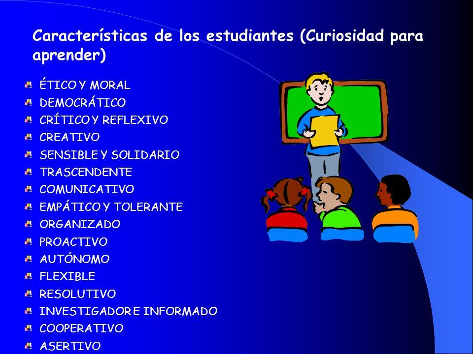 Características de los estudiantes (Curiosidad para aprender)