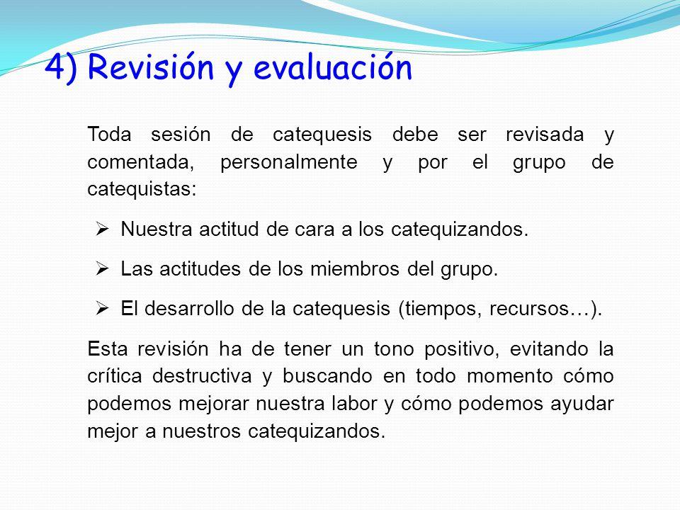 4) Revisión y evaluación