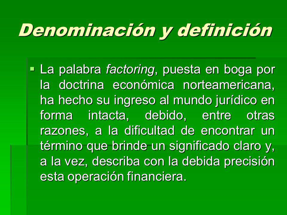Denominación y definición