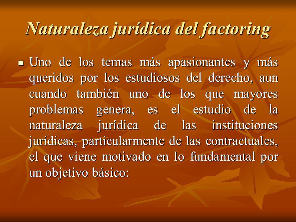Naturaleza jurídica del factoring
