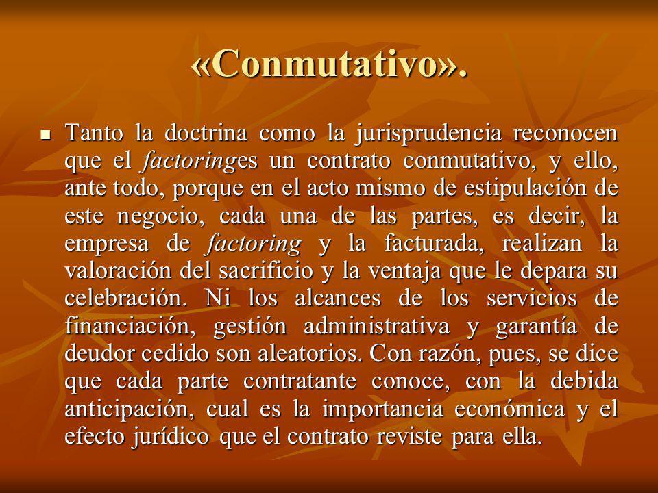 «Conmutativo».