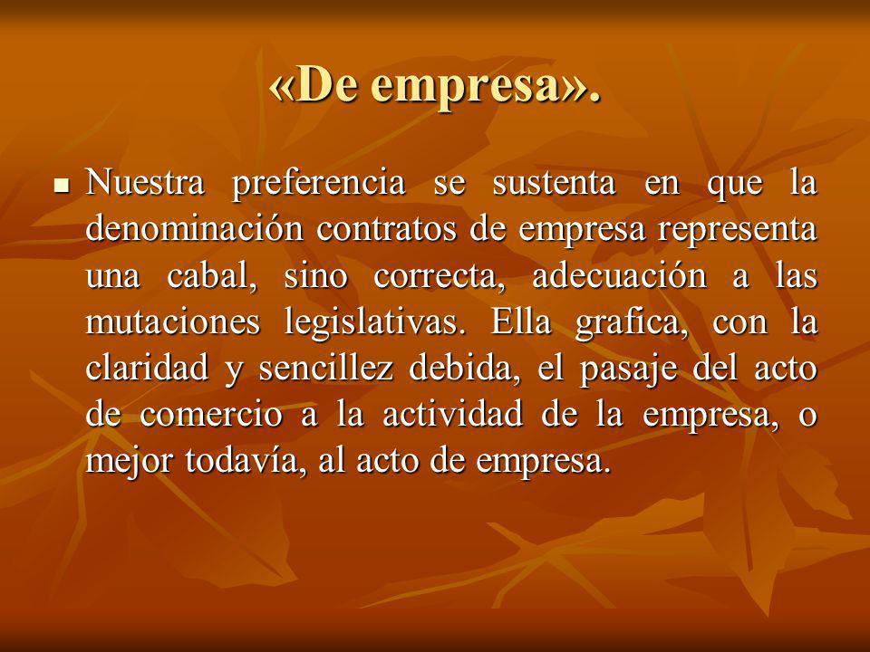 «De empresa».
