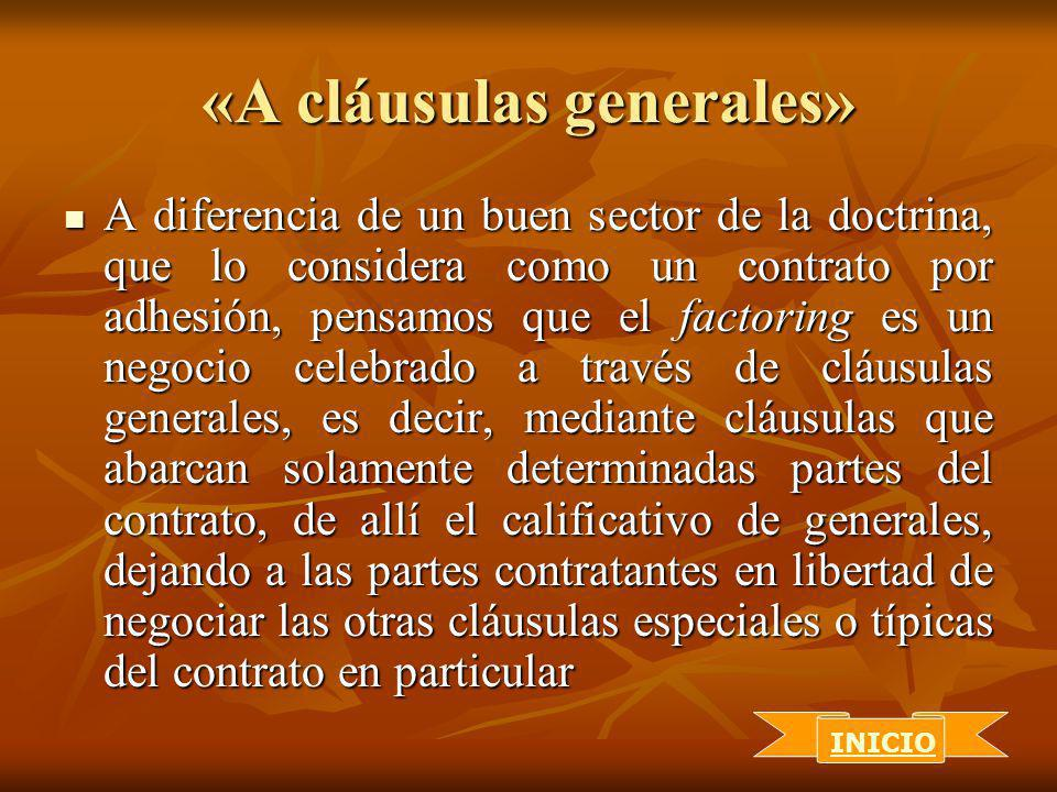 «A cláusulas generales»