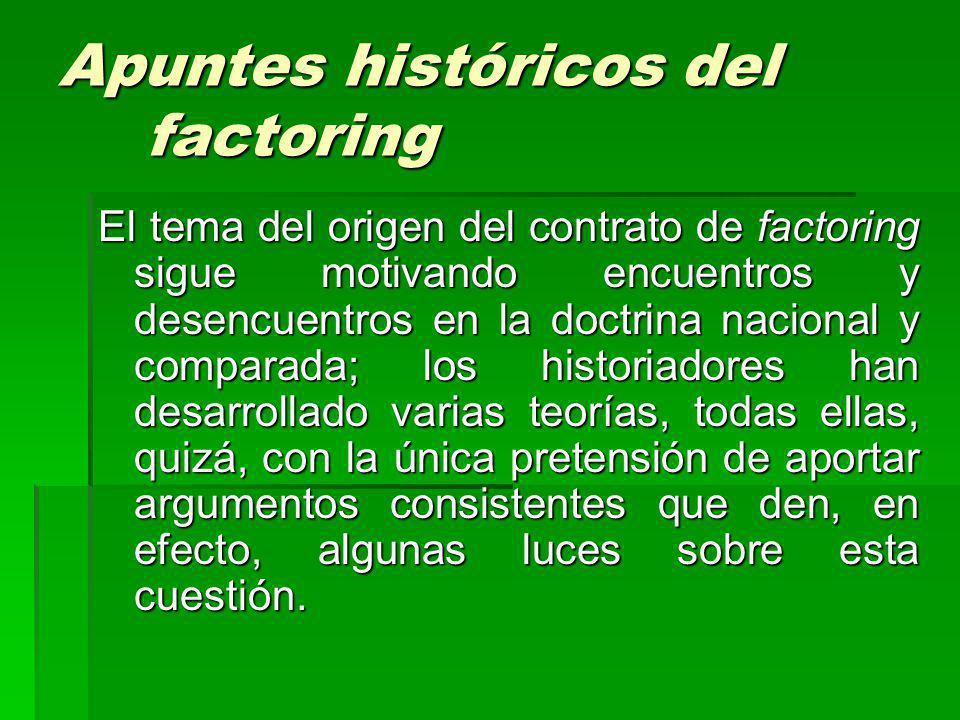 Apuntes históricos del factoring