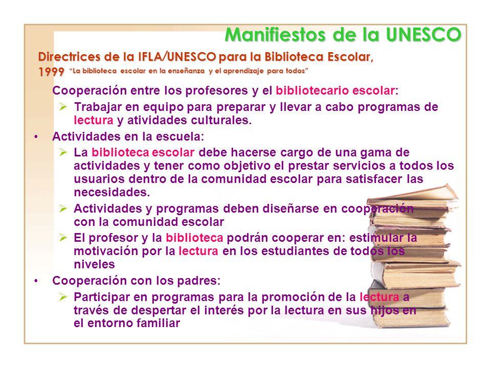 Manifiestos de la UNESCO