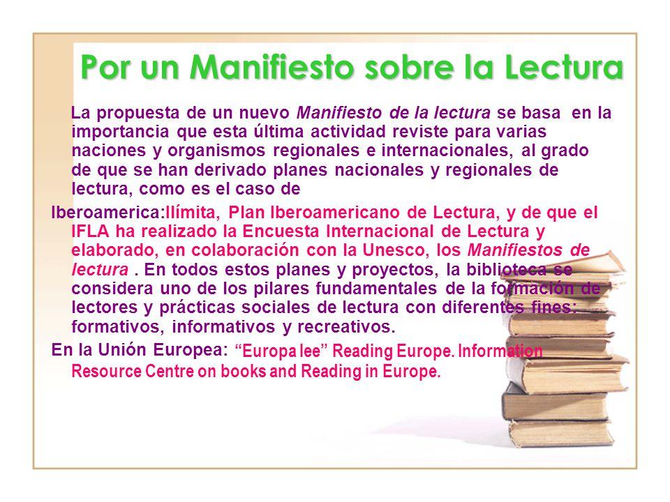 Por un Manifiesto sobre la Lectura