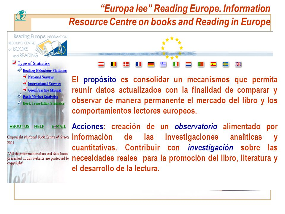Europa lee Reading Europe. Information