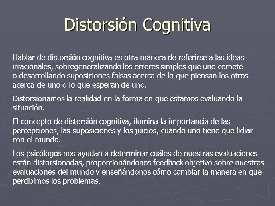 Distorsión Cognitiva