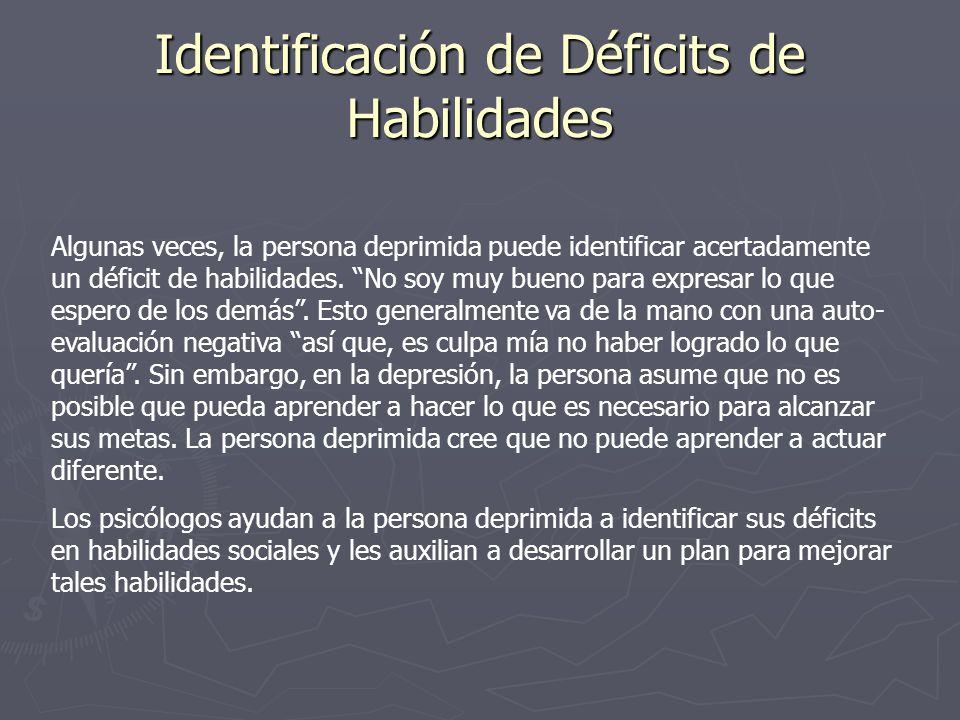 Identificación de Déficits de Habilidades