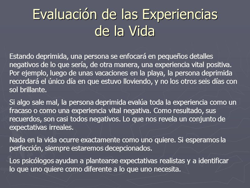 Evaluación de las Experiencias de la Vida