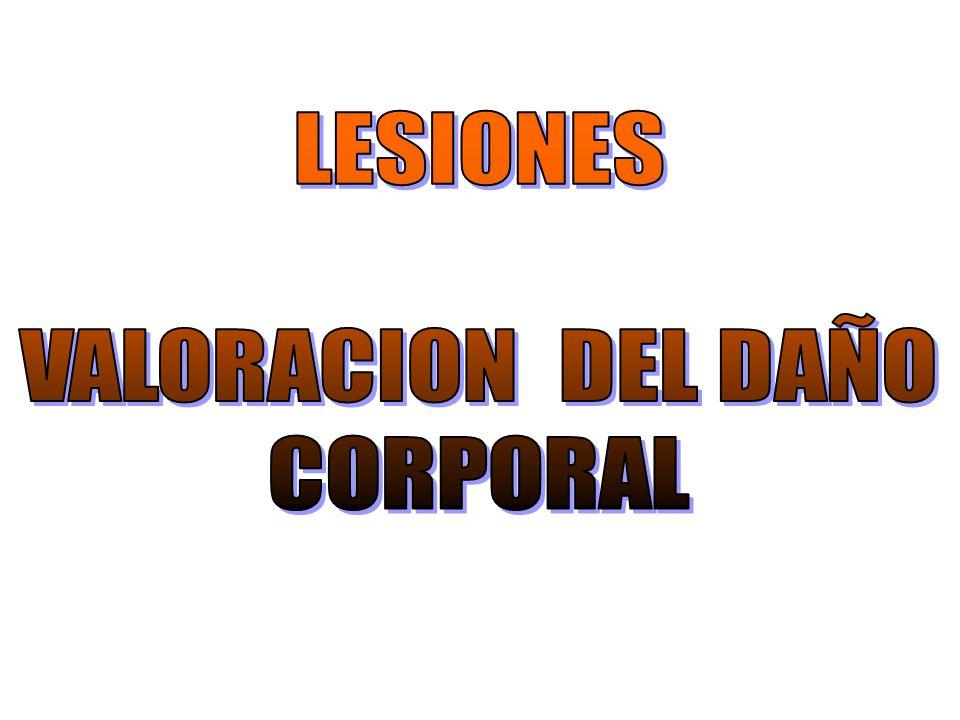 LESIONES VALORACION DEL DAÑO CORPORAL