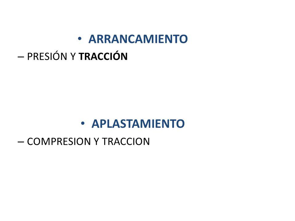 ARRANCAMIENTO PRESIÓN Y TRACCIÓN APLASTAMIENTO COMPRESION Y TRACCION