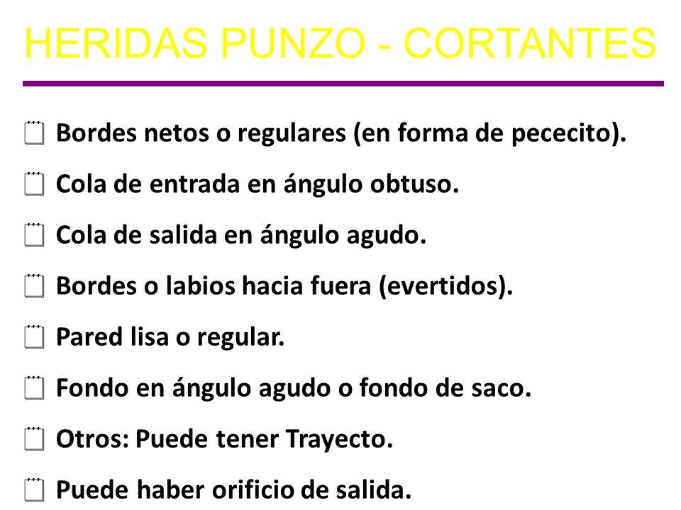 HERIDAS PUNZO - CORTANTES