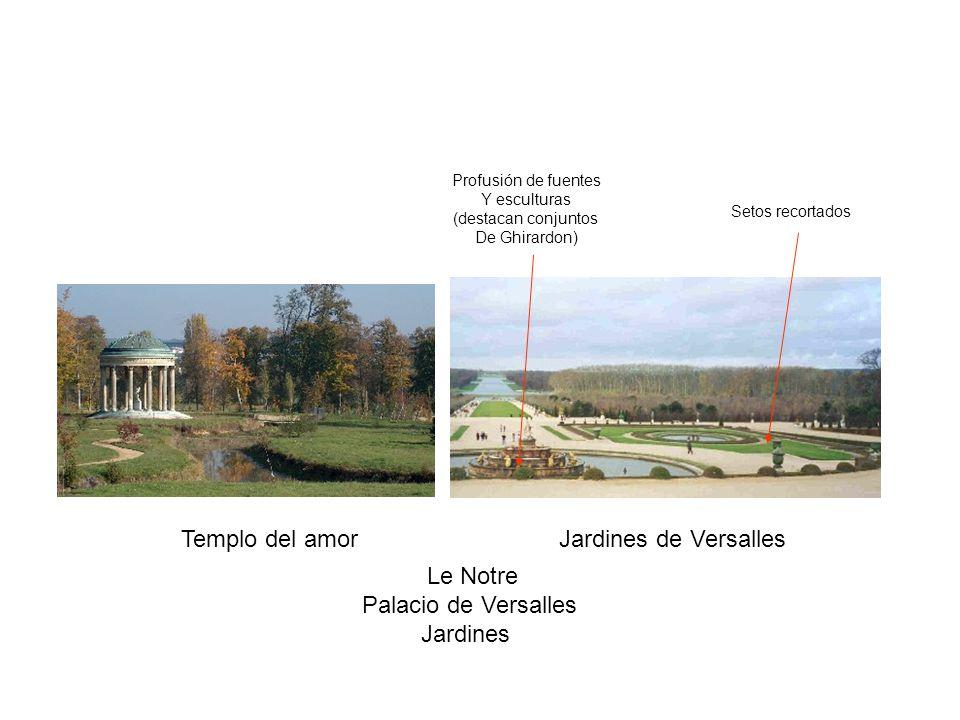 Templo del amor Jardines de Versalles Le Notre Palacio de Versalles