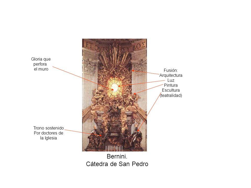 Bernini. Cátedra de San Pedro Gloria que perfora el muro Fusión: