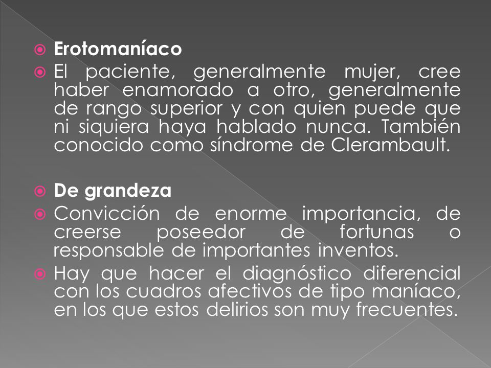 Erotomaníaco