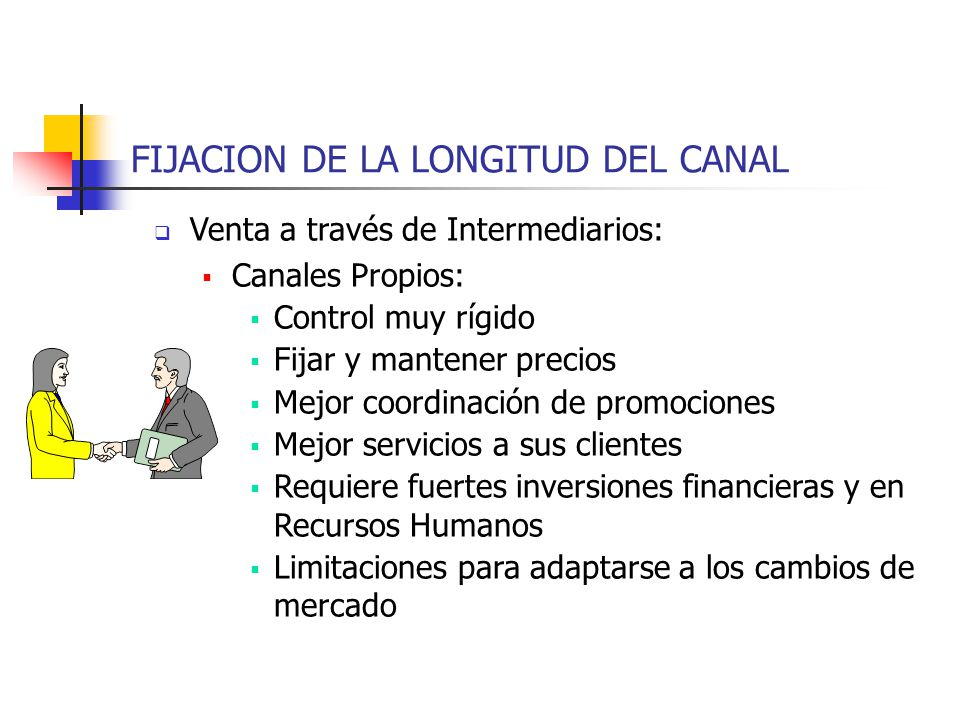 FIJACION DE LA LONGITUD DEL CANAL