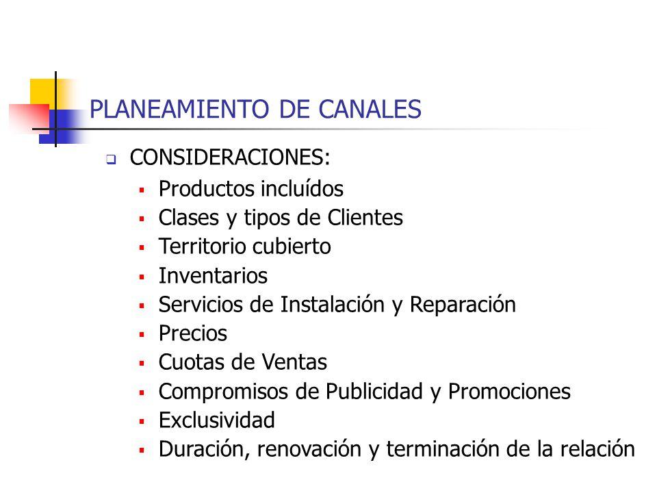 PLANEAMIENTO DE CANALES