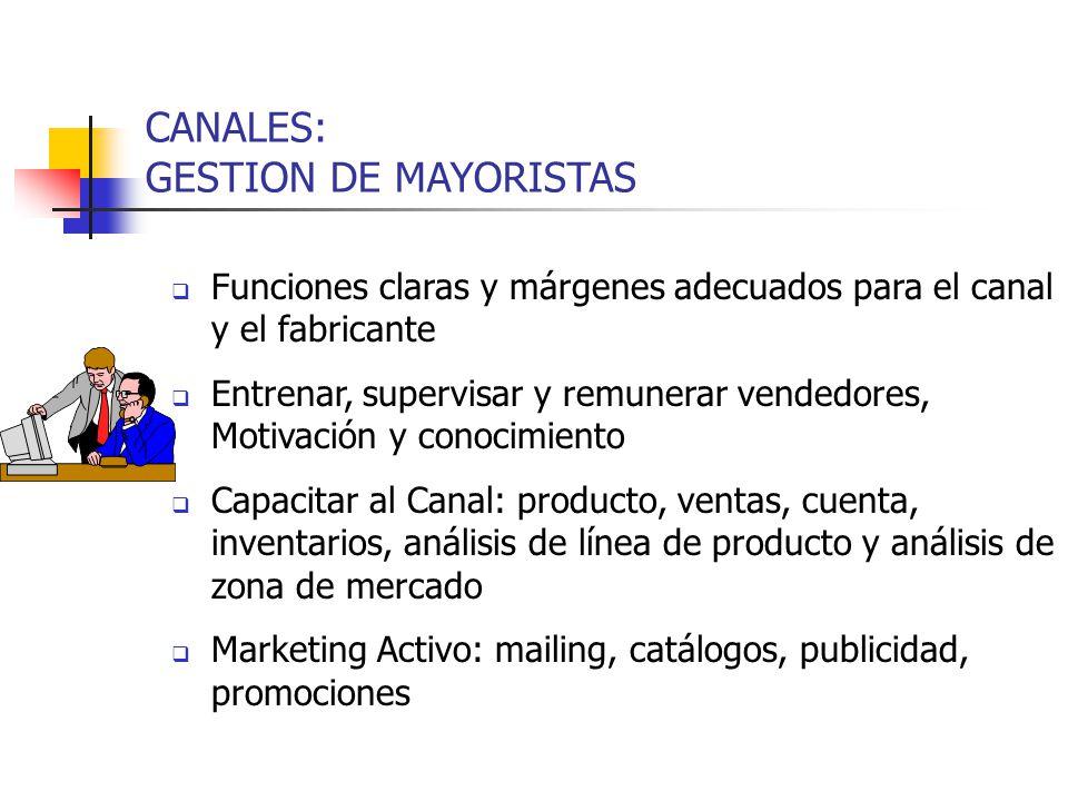 CANALES: GESTION DE MAYORISTAS