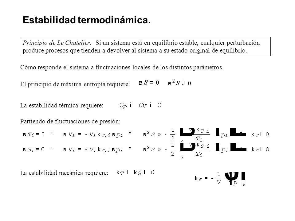 Estabilidad termodinámica.