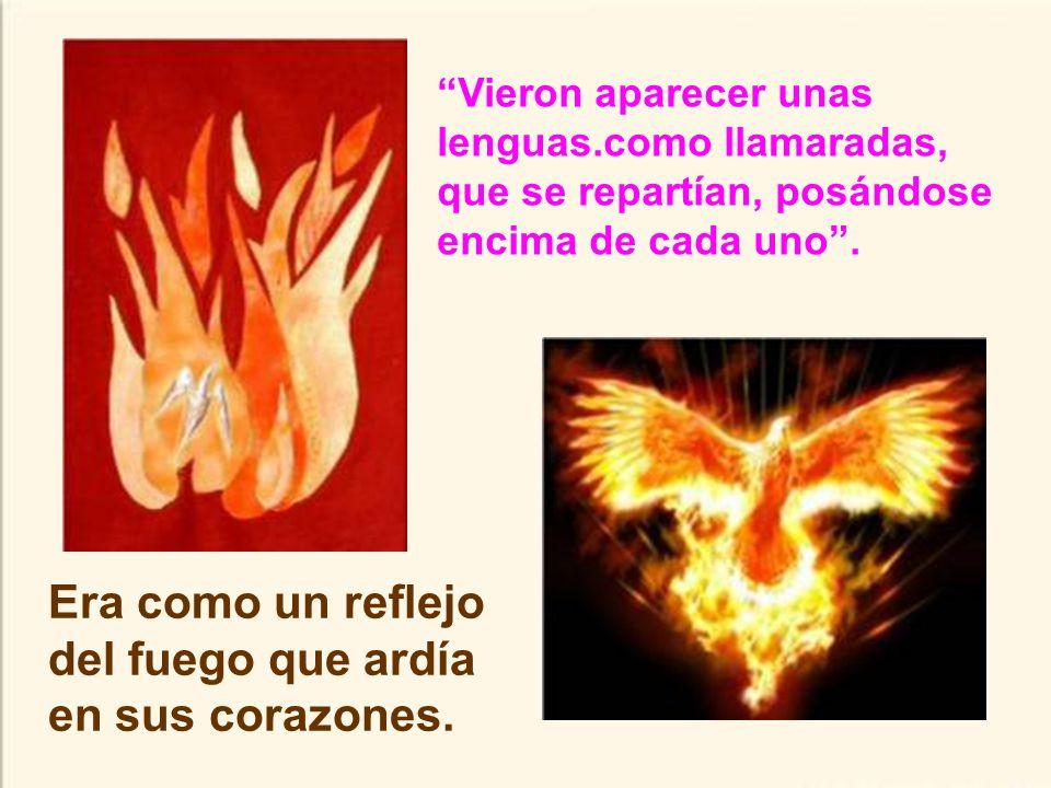 Era como un reflejo del fuego que ardía en sus corazones.