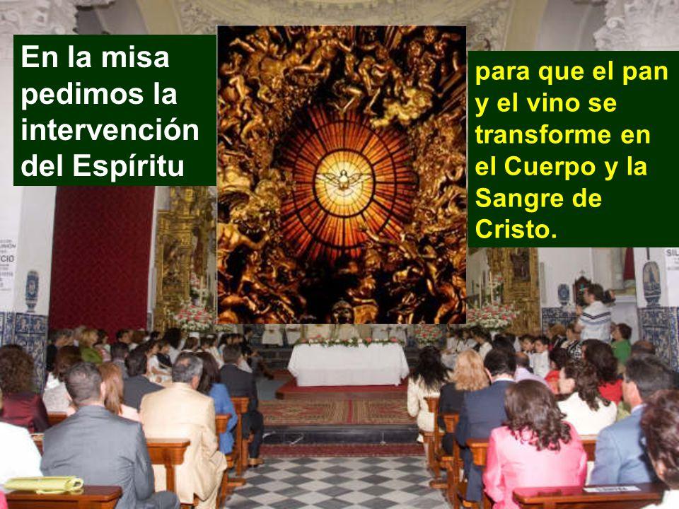 En la misa pedimos la intervención del Espíritu
