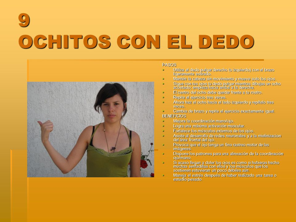 9 OCHITOS CON EL DEDO PASOS