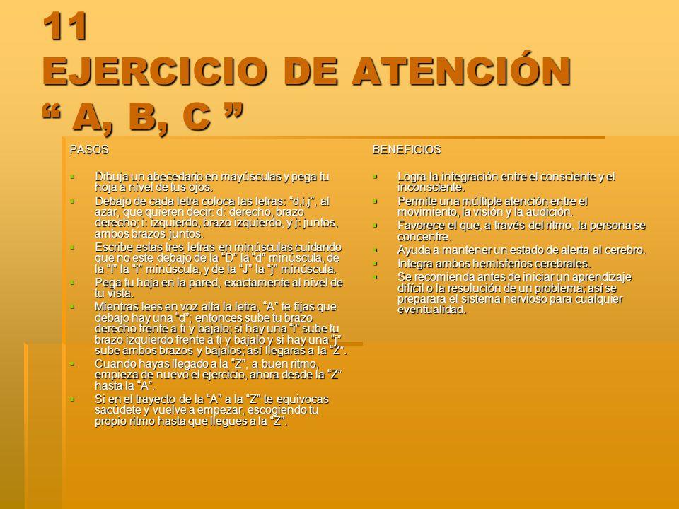 11 EJERCICIO DE ATENCIÓN A, B, C