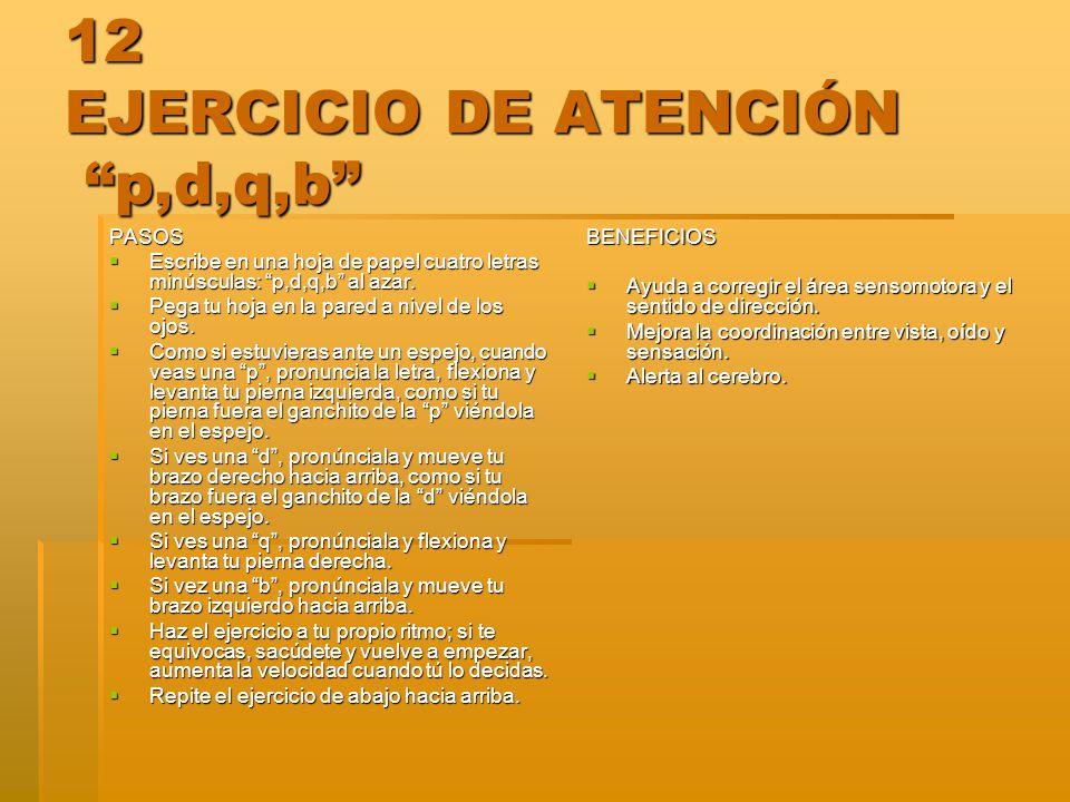 12 EJERCICIO DE ATENCIÓN p,d,q,b