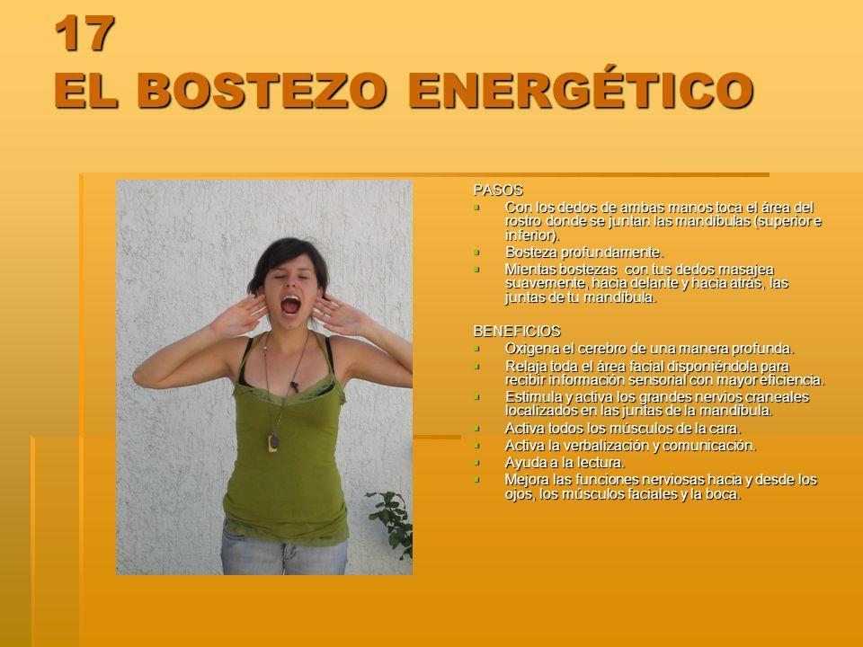 17 EL BOSTEZO ENERGÉTICO PASOS
