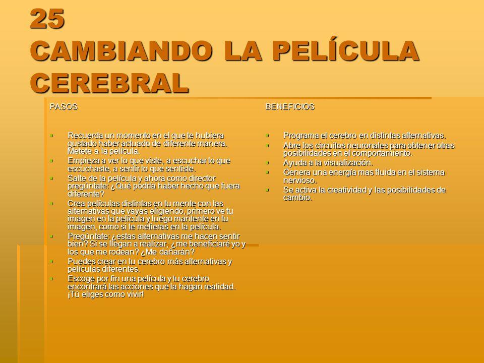 25 CAMBIANDO LA PELÍCULA CEREBRAL
