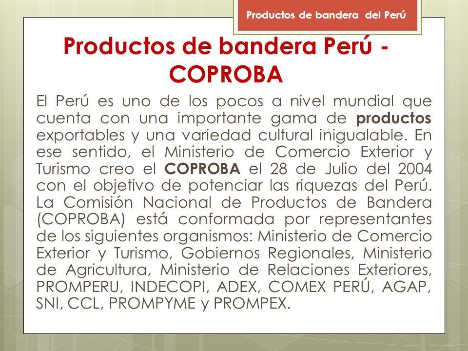 Productos de bandera Perú - COPROBA