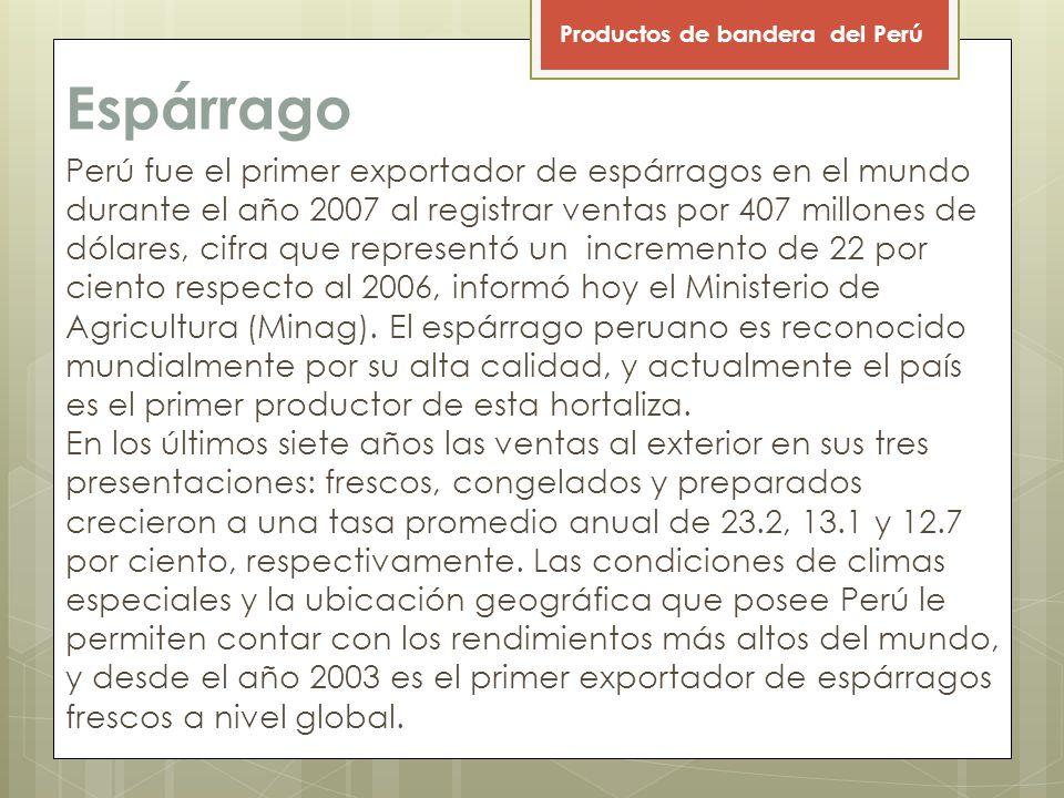 Productos de bandera del Perú