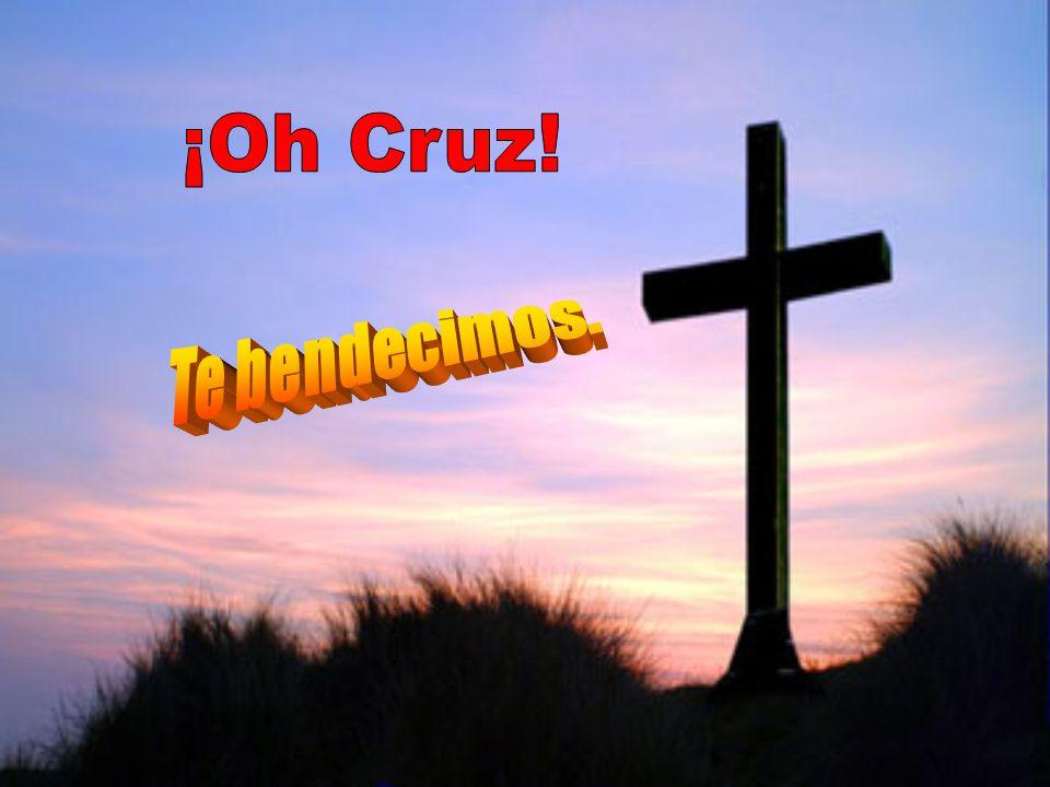 ¡Oh Cruz! Te bendecimos.